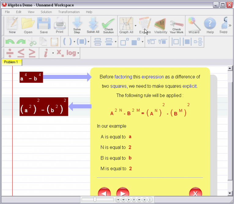 picture 3 for demo on Factoring Expressions