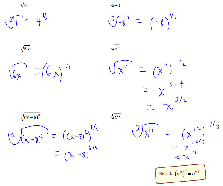 rational exponents,5
