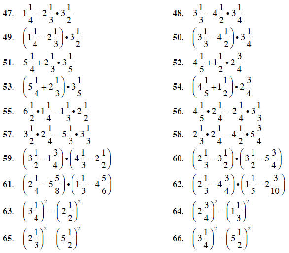 Printables Complex Fractions Worksheet exponents and order of operationscomplex fractions compute the following expressions answer using mixed numbers