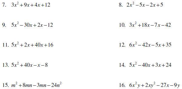 Problems Laptuoso – Factoring by Gcf Worksheet